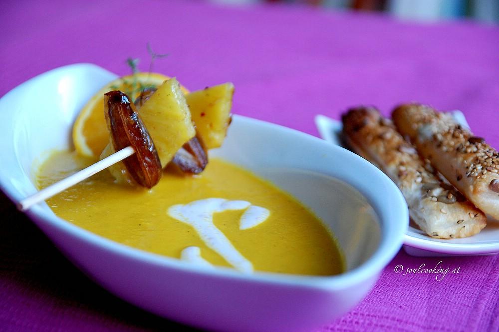 kleinerkarotten ananas suppe1